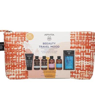 Apivita Promo Beeauty Travel Kit: Gel Καθαρισμού, Αφρόλουτρο, Γαλάκτωμα Σώματος,Σαμπουαν & Μασκα Μαλλιών