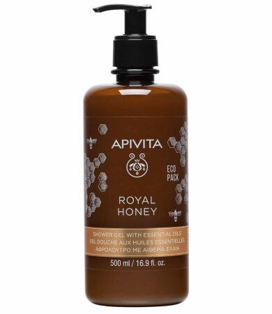 Apivita Eco Pack Royal Honey Κρεμώδες Αφρόλουτρο με μέλι 500ml