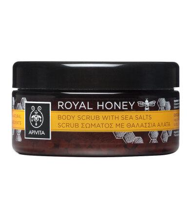 Apivita Royal Honey, Scrub Σώματος με Θαλάσσια Άλατα 200ml