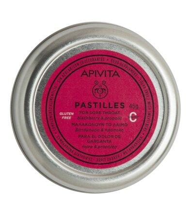 Apivita Παστίλιες με βατόμουρο & πρόπολη 45g