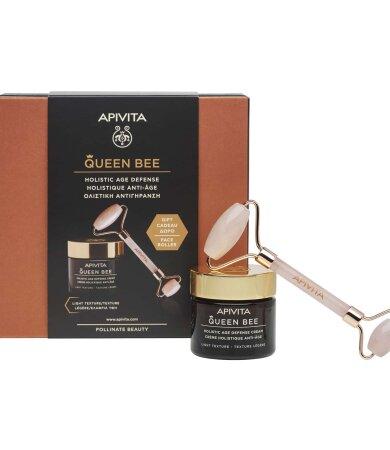 Apivita Queen Bee Κρέμα Ημέρας Ολιστικής Αντιγήρανσης Ελαφριάς Υφής 50ml & ΔΩΡΟ Face Roller