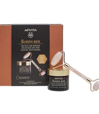 Apivita Queen Bee Κρέμα Ημέρας Ολιστικής Αντιγήρανσης Πλούσιας Υφής 50ml & με ΔΩΡΟ Face Roller