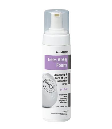 Frezyderm Intim Area Foam ph 4.0, Πλούσιος Αφρός Καθαρισμού της Ευαίσθητης Περιοχής 150ml
