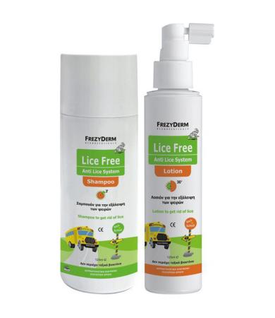 Frezyderm Lice Free Set (Σαμπουάν, Λοσιόν & Χτένα) 2x125ml