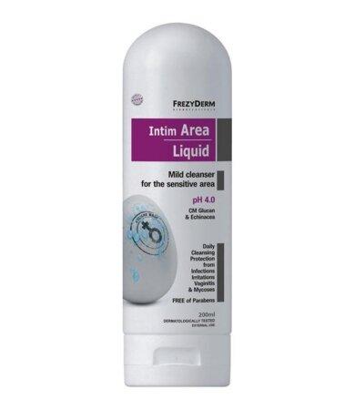 Frezyderm Intim Area Liquid pH4, Απαλό Καθαριστικό Ευαίσθητης Περιοχής 200ml