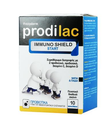 Frezyderm Prodilac Immuno Shield Start Συμπλήρωμα Διατροφής με Προβιοτικά για νήπια & παιδιά, 10 φακελάκια