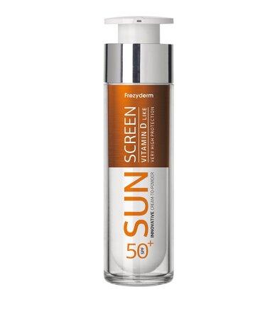 Frezyderm Sun Screen Cream to Powder Vitamin D Like SPF50+ Αντηλιακή Κρέμα Προσώπου 50ml