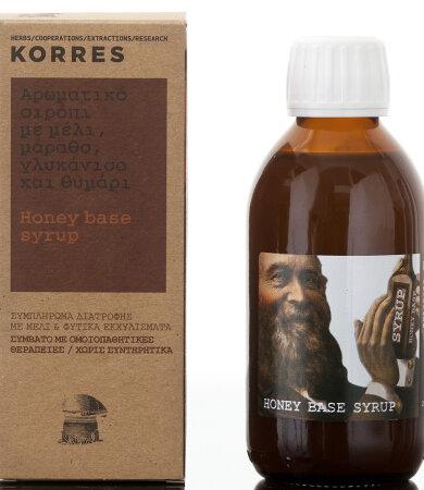 Korres Honey Base Syrup Αρωματικό Σιρόπι για το Λαιμό 200ml