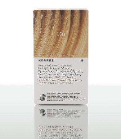 Korres Βαφή Μαλλιών 10Ν Ξανθό Ανοικτό της Πλατίνας χωρίς Αμμωνία 60ml