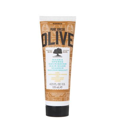 Korres Pure Greek Olive Nourishing Μάσκα Μαλλιών Ενυδάτωσης για Ξηρά/Αφυδατωμένα Μαλλιά 125ml