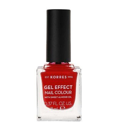 Korres Gel Effect Nail Colour No.53 Royal Red Βερνίκι Νυχιών 11ml