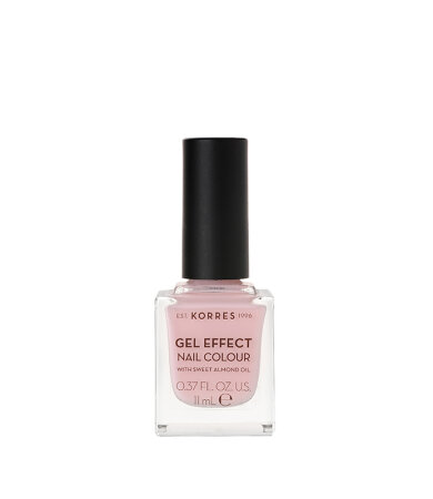 Korres Gel Effect Nail Colour No.05 Candy Pink Βερνίκι Νυχιών 11ml