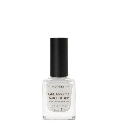 Korres Gel Effect Nail Colour 02 Porcelain White 11ml