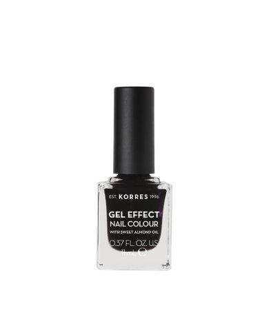 Korres Gel Effect Nail Colour No.76 Smokey Plum Βερνίκι Νυχιών 11ml