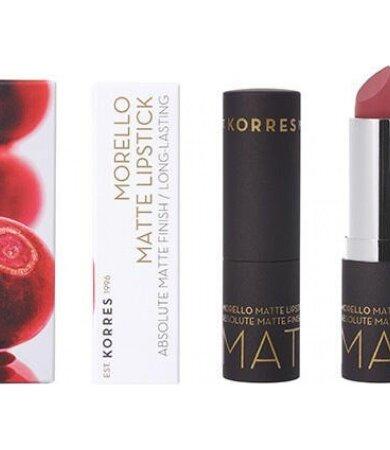 Korres Morello Matte Lipstick 23 Natural Purple 3.5gr