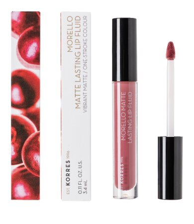 Korres Morello Matte Lasting Lip Fluid 10 Damask Rose Υγρό Κραγιόν 3.4ml
