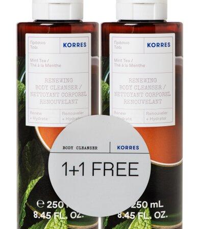 Korres Αφρόλουτρο Πράσινο Τσάι 250ml 1+1 ΔΩΡΟ