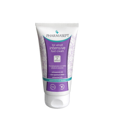 Pharmasept Tol Velvet Intensive Foot Cream, Κρέμα Ποδιών με Υαλουρονικό οξύ & AHA 75ml