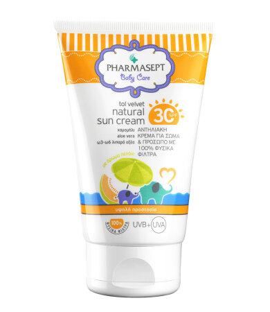 Pharmasept Top Velvet Natural Sun Cream SPF30 100ml
