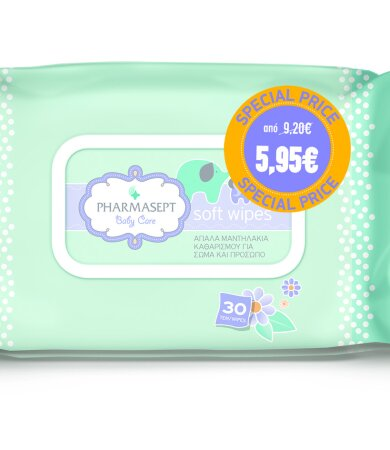 Pharmasept Baby Care Soft Wipes Promo Pack 1+1