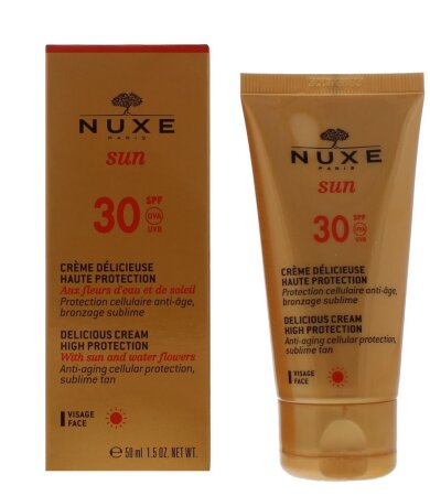 Nuxe Sun Delicious Cream, Αντηλιακή Αντιγηραντική - Καφέ Κηλίδες Κρέμα Προσώπου SPF30 50ml