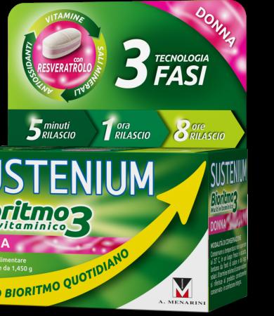Menarini Sustenium Biorhythm 3 Multivitamin Woman Πολυβιταμίνη Για Γυναίκες 30 Δισκία