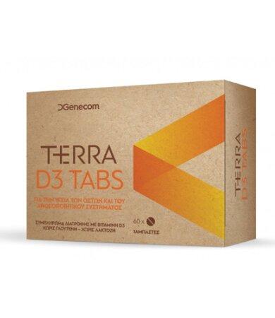 Genecom Terra D3 Tabs Συμπλήρωμα Διατροφής με βιταμίνη D3, 60 ταμπλέτες