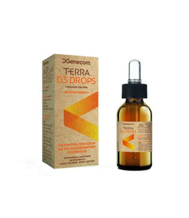 Genecom Terra D3 Oral Drops 30ml - Συμπλήρωμα διατροφής με βιταμίνη D3