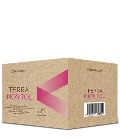 Genecom Terra Inositol Συμπλήρωμα Διατροφής με Ινοσιτόλη - Ρύθμιση της λειτουργίας των ωοθηκών, 30 φακελίσκοι