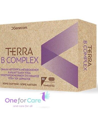 Genecom Terra B-Complex Συμπλήρωμα Διατροφής με Βιταμίνες του Συμπλέγματος Β 30ταμπλέτες
