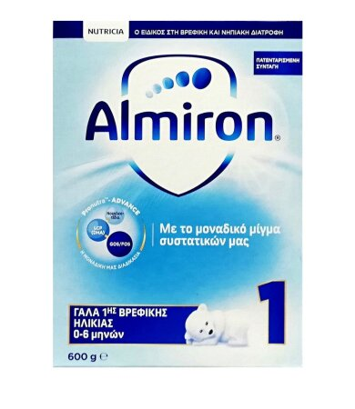 Nutricia Almiron 1, Γάλα Πρώτης Βρεφικής Ηλικίας 0-6 Μηνών 600gr
