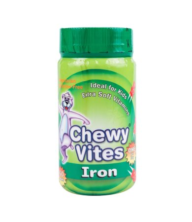 Chewy Vites Jelly Bears Σίδηρος 60 Μασώμενα Zελεδάκια