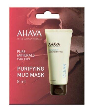 Ahava Time To Clear Purifying Mud Mask, Μάσκα Προσώπου Για Βαθύ Καθαρισμό 8ml