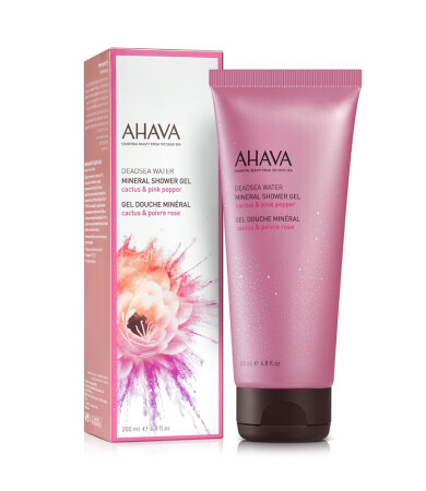 Ahava Deadsea Water Mineral Shower Gel Αφρόλουτρο με Κάκτο & Ροζ Πιπέρι 200ml