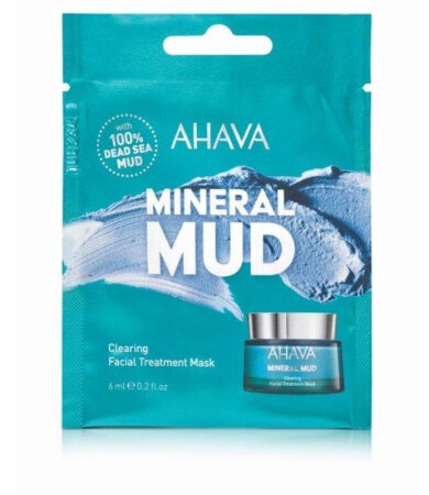 Ahava Mineral Mud Clearing Facial Treatment Mask, Μάσκα Προσώπου Απομάκρυνσης Ατελειών & Καθαρισμού 6ml