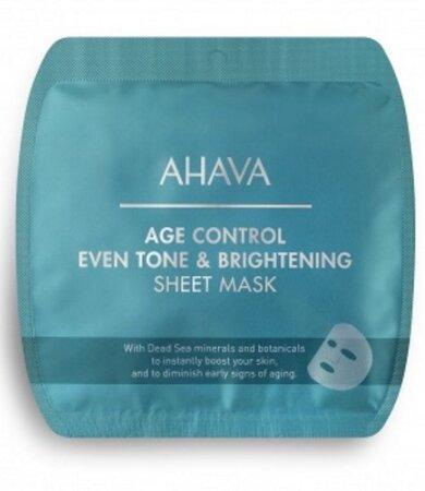 Ahava Age Control Even Tone & Brightening Sheet Mask, Μάσκα Προσώπου Για Λάμψη 17g