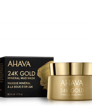 Ahava Mineral Mud Mask 24K Gold, Μάσκα Προσώπου Με Καθαρό Χρυσό Για Σύσφιξη 50ml