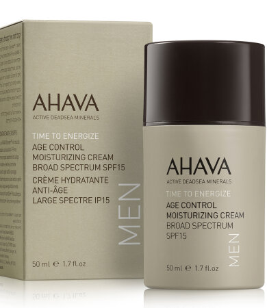 Ahava Men Time to Energize Age Control Moisturizing Cream Broad Spectrum SPF15 50ml