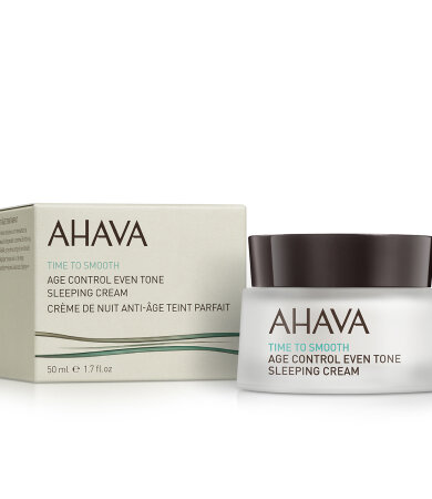 Ahava Time to Smooth Age Control Even Tone Sleeping Cream Ενυδατική Κρέμα Νυχτός 50ml
