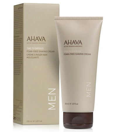 Ahava Men Time to Energize Foam-Free Shaving Cream Κρέμα Ξυρίσματος 200ml