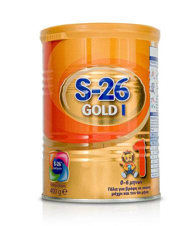 WYETH S-26 Gold 1 Γάλα σε Σκόνη για Βρέφη 0-6 Μηνών 400gr