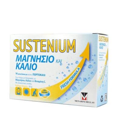 Menarini Sustenium Μαγνήσιο & Κάλιο με Γεύση Πορτοκάλι 14Φακελάκια