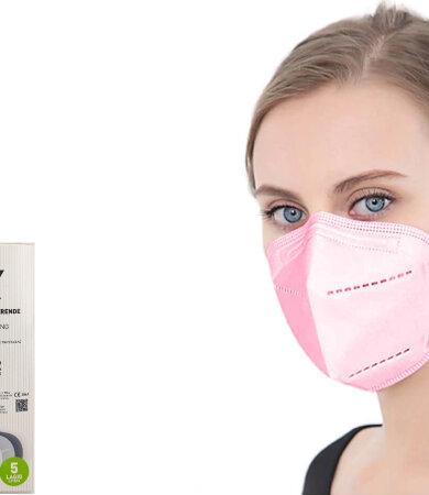 Famex FFP2 NR Pink 10pcs Particle Filtering Half Mask