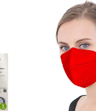 Famex FFP2 NR Red 10pcs Particle Filtering Half Mask