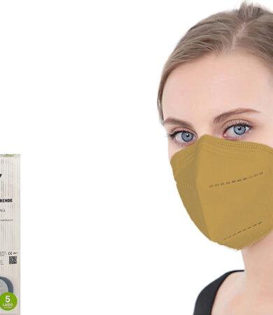 Famex FFP2 NR Brown 10pcs Particle Filtering Half Mask