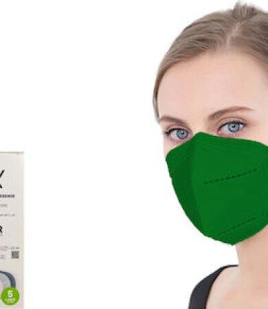 Famex FFP2 NR Dark Green 10pcs Particle Filtering Half Mask