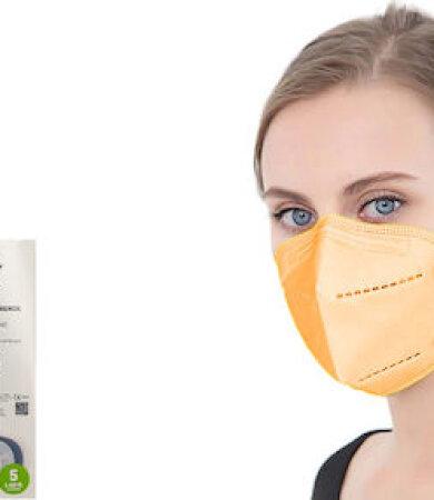 Famex FFP2 NR Orange 10pcs Particle Filtering Half Mask
