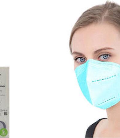 Famex FFP2 NR Turquoise 10τμχ Particle Filtering Half Mask