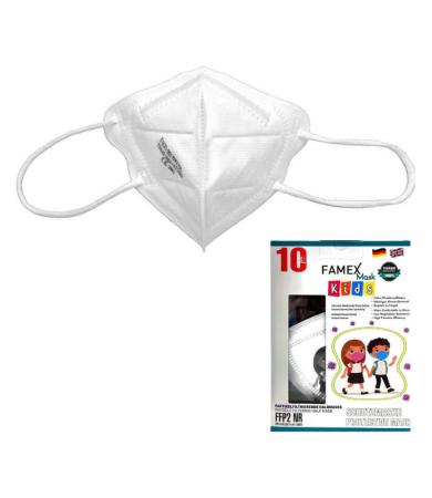 Famex Kids Mask FFP2 NR White 10pcs