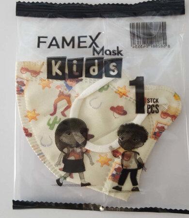 Famex Kids Mask FFP2 NR Cowboy 10pcs